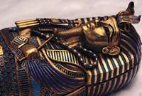 Gold Coffinette, Tomb King Tutankhamun, Valley of the Kings, Egypt Fine Art Print