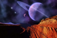 Cosmic Landscape of Another Planet Fine Art Print
