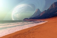 Cosmic Seascape on an Alien Planet Fine Art Print