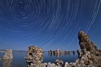Moonlight illuminates the tufa formations at Mono Lake, California Fine Art Print