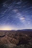 Milky Way above the Borrego Badlands, California Fine Art Print