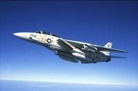 US Navy F-14A Tomcat in flight Fine Art Print