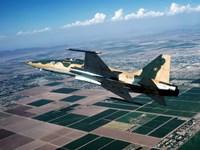 An F-5E Tiger II in flight over El Centro, California Fine Art Print