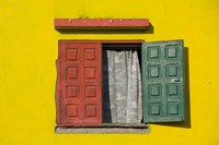 Madagascar, Colorful window, near Antananarivo Fine Art Print