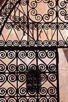 Iron gate, Moorish architecture, Rabat, Morocco Fine Art Print