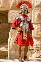Jordan, Jerash, Reenactor, Roman soldier portrait Fine Art Print