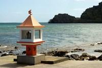 Mauritius, Baie du Cap, Hindu place of worship Fine Art Print