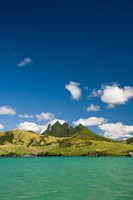 Lion Mountains in South Mauritius, Africa Fine Art Print