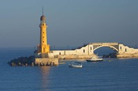 Lighthouse, Alexandria, Mediterranean Sea, Egypt Fine Art Print