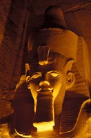 Lighted Face at the Great Temple of Ramesses II, Egypt Fine Art Print