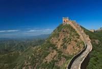 Landscape of Great Wall, Jinshanling, China Fine Art Print