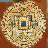 Mauritania, Wall decoration in Oualata Fine Art Print