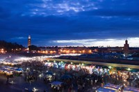 MOROCCO, MARRAKECH: Djemma el, Fna Square Evening Fine Art Print