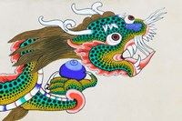Painting of Dragon, Thimphu, Bhutan Fine Art Print