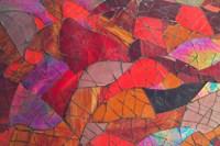 Red Mosaic, Library, Mediterranean, Alexandria, Egypt Fine Art Print