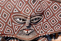 Painted Geometric Mask, Zimbabwe Fine Art Print