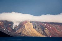 Mountainous Deception Island, Antarctica Fine Art Print