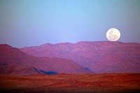 Namibia, Sossusvlei, NamibRand Nature Reserve, Full moon Fine Art Print