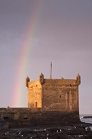 Rainbow over fortress, Essaouira, Morocco Fine Art Print