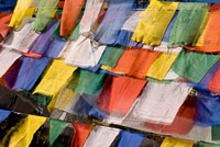 Prayer Flags at Dochu La, Bhutan Fine Art Print