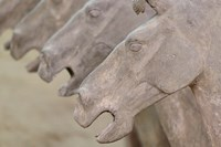 Qin Terra Cotta Warriors and Horses, Xian, Shaanxi, China Fine Art Print