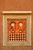 Ornate Detail of a Wooden Window, Djenne, Mali Fine Art Print