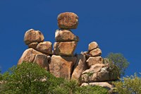 Mother and Child rock formation, Matobo NP, Zimbabwe, Africa Fine Art Print