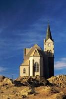 Namibia, Luderitz, Evangelical Lutheran Church Fine Art Print