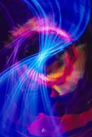 Blue and Pink Neon Lighting with Nightzoom Fine Art Print