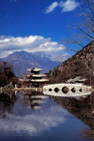 Pagoda, Black Dragon Pool Park, Lijiang, Yunnan, China Fine Art Print