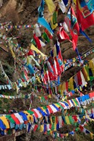 Prayer Flags, Thimphu, Bhutan Fine Art Print