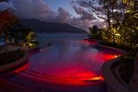 Resort, Pool, Northolme Hotel, Mahe Island, Seychelles Fine Art Print