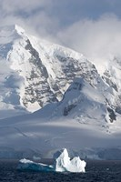 Rugged Mountains Bordering Gerlache Strait, Antarctica Fine Art Print