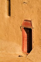 Shoes outside side door into the Mosque at Djenne, Mali, West Africa Fine Art Print
