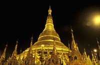 Shwedagon Pagoda at Night, Yangon, Myanmar Fine Art Print
