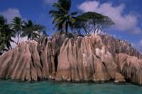 Rocky Coast of St Pierre Islet, Seychelles Fine Art Print