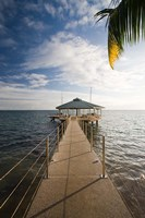 Seychelles, Anse Bois de Rose, Coco de Mer Hotel pier Fine Art Print