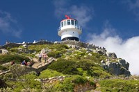 South Africa, Cape Town, Lighthouse on Cape Peninsula Fine Art Print
