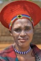 South Africa, KwaZulu Natal, Shakaland, Zulu tribe Fine Art Print