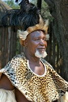 South Africa, KwaZulu Natal, Zulu tribe chief Fine Art Print