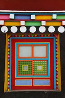 Tibetan-Styled Decoration in Tagong Monastery, Tagong, Sichuan, China Fine Art Print