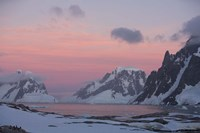 Sunset Light on Lemaire Channel, Antarctic Peninsula Fine Art Print