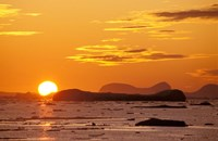 Sunset, Antarctic Peninsula, Antarctica Fine Art Print