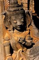 Stupa Details, Shwe Inn Thein, Indein, Inle Lake, Shan State, Bagan, Myanmar Fine Art Print