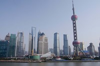 View from The Bund of the modern Pudong area, Shanghai, China Fine Art Print