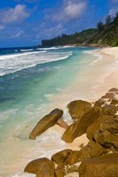 Tropical Beach, La Digue Island, Seychelles, Africa Fine Art Print