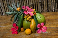 Tropical Fruit on Praslin Island, Seychelles Fine Art Print