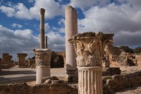 Tunisia, Carthage, Antonine Bath Ancient Architecture Fine Art Print