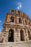 Tunisia, El Jem, Colosseum, Ancient Architecture Fine Art Print