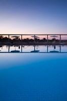 Tunisia, Jerid Area, Tozeur, Hotel El Mouradi Pool Fine Art Print